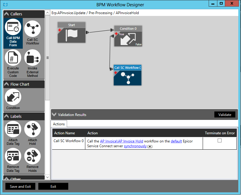 Epicor BPM Workflow Designer